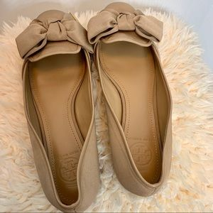 Tory Burch Penny Smoking Slipper Fabric Faille Tan